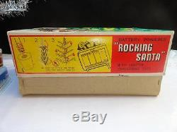 1950's Alps Rocking Santa Battery Operated Toy Japan Rare