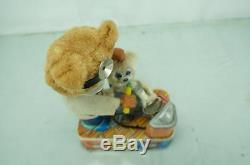 1950'S S&E JAPANESE BATTERY OPERATED TIN DENTIST BEAR With ORIGINAL BOX TIN TOY