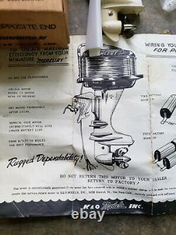 1950'S Vintage K&O Mercury MARK 55-E Toy Outboard Motor KIEKHAEFER 12 V NMIB