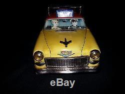 1950's Ichiko/Kanto Japan-TAXI CAB-YELLOW CAB-BANK-Bat-Op-NM-Rare Car