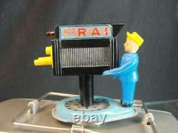 1950's Ichiko Tin Battery Op Rai Radio Telivisione Italiana Plymouth Tv Car Box