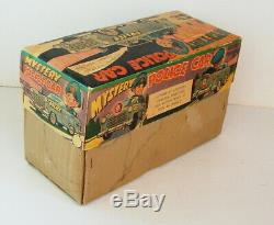 1950s BATTERY OPERATED JAPAN MYSTERY POLICE CAR BEAUTIFUL IN THE BOX