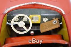 1950s DISTLER ELECTRO MATIC 7500 PORSCHE TIN BATTERY OPERATED CAR & ORIGINAL BOX