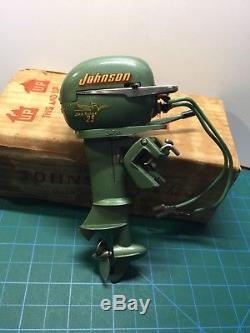 1950s Japan Johnson Seahorse 25 Outboard Motor Battery Operated withbox Runs