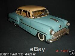 1950s Opel Vintage Antique Tin Toy Car by Yonezawa, Japan Battery Operated
