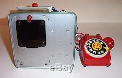 1950s V. I. P. THE BUSY BOSS TELEPHONE BEAR BATTERY OPERATED TIN LITHO TOY JAPAN