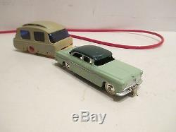 1956 Chrysler Windsor With Trailer Carvan Battery Operated Mint-works Great