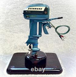 1956 K&O Evinrude Big Twin Vintage Toy Outboard Boat Motor Runs Strong
