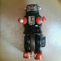 1957 Nomura TN Mechanized ROBBY ROBOT Battery Operated Japan Tin vintage