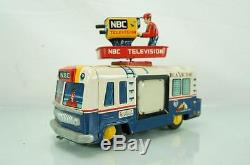 1960s Japan Rare Rca Nbc Mobile Color Tv Tin Toy Battery Operated Truck