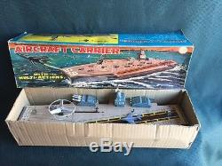 1960's Marx Battery Operated Aircraft Carrier In The Original Box