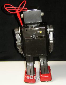 1960`s HORIKAWA TIN LITHO BATTERY-OP SPACE EXPLORER ASTRONAUT ROBOT With BOX JAPAN