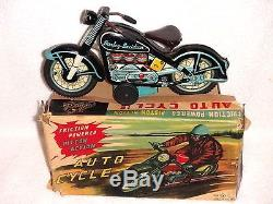 1960's Vintage Harley Davidson with Moving Pistons TN Japan Tin Friction MIB Mint