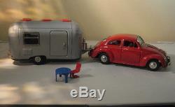 1960s VW and Camping Trailer Original Set Bandai #5835 Japan