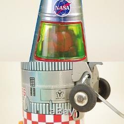 1960s Yonezawa Rocket NASA Vintage Tin Toy Battery Operated MADE IN JAPAN 710