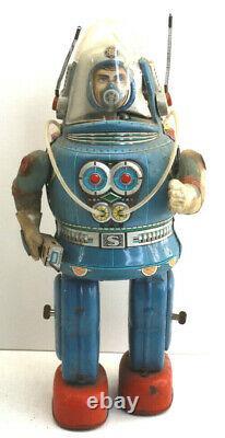 1962 Rosko Astronaut Robot Space Man Tin Litho Battery Operated Osaka Japan