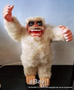 1964 RARE Marx YETI ABOMINABLE SNOWMAN in BOXWORKING Battery Operated Toy