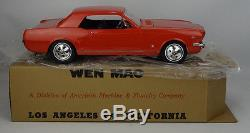 1966 Wen Mac Vintage Ford Mustang NIB With Box & Paperwork Battery Operated Car