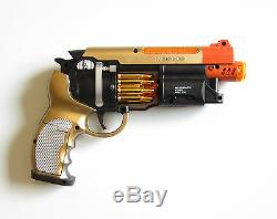 1 New Battery Operated Pistol 9 Handgun Action Revolver With Lights And Sound