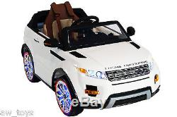 2016 Range Rover 12v Battery Powered Electric Ride On Kids Toy Car Remote White