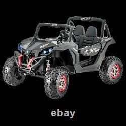 24V Electric Kids Boys Ride On UTV Car Truck, 2 Seater Rubber Tires, Remote, Lights
