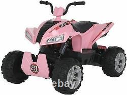 24V Kids ATV Ride On Quad 4 Wheeler Battery Powered Electric ATV Pink