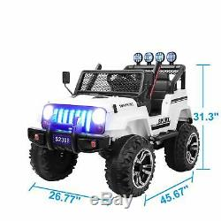 2 Seater Kids Electric 12v Ride on Car Toys with Remote Control LED Light Horn MP3