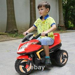 3 Wheel Kids Ride On Motorcycle 6V Battery Powered Electric Toy Power Bicycle
