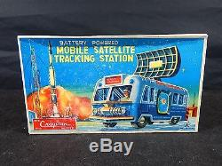 50'S TIN CRAGSTAN MOBILE SATELLITE With BOX JAPAN BATTERY OPERATED WORKING
