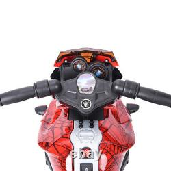 6V Kids Ride Motorcycle Car 4 Wheel Battery Powered Bicycle Electric Toy Red
