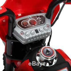 6V Kids Ride On Motorcycle Battery Powered Bicycle with Training Wheel Toy New