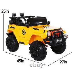 6V Kids Ride On Toy Electric Battery Powered Off-Road Truck LED Lights Yellow