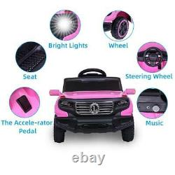 6V Kids Ride on Car Truck Toy Battery Power 3 Speed WithLight Remote Control Pink