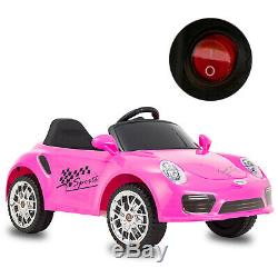 6V Kids Ride on Cars Electric Suspension Car Remote Control Horn Music LED Light