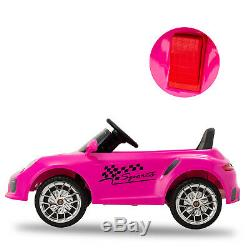 6V Kids Ride on Cars Electric Suspension Car Remote Control Horn Music LED Light