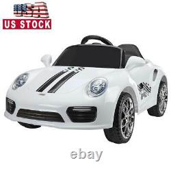 6V Ride On Car Kids Electric Battery Power 2 Motor withRemote Control MP3 White