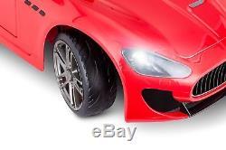6 Volt Kid Trax Maserati Grand Turismo Ride On Red KT1252TR