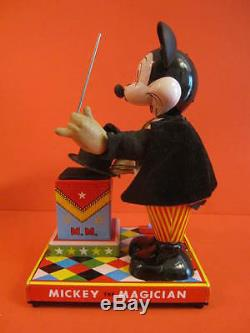 All Original Linemar Mickey The Magician Battery Operated Japan 1960