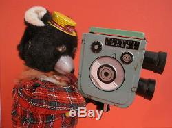 All Original Linemar Tv Camera Shootin Bear Cine Bear + Original Box 1960