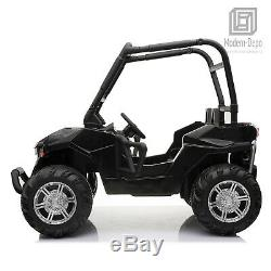 ATV Truck 12V Kid Ride On Car 2 Seats with Remote Control, Roll Cage & EVA Wheel