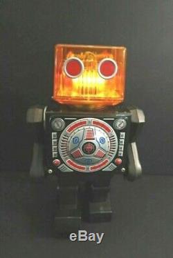 All Original HORIKAWA Piston Head Robot Battery Operated Mint + Box Japan 1968