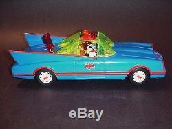 Aoshin Japan Tin Batmobile Vintage RARE Battery Operated Toy Car Boxed Beauty