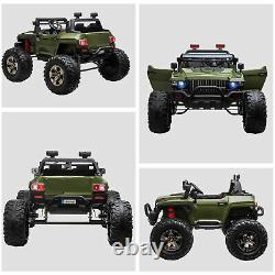 Aosom Ride On Car Off-Road Truck Electric Battery with Adjustable Speed, Green