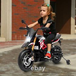 Aprilia Licensed 12V Kids Ride-On Motorcycle Motor Bike with Training Wheels Red