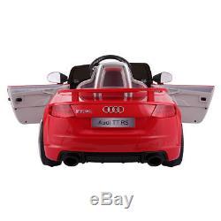 Audi TT 12V Electric Kids Ride On Car Licensed MP3 LED Lights RC Remote Control