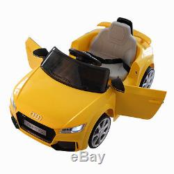 Audi TT 12V Electric Kids Ride On Car Licensed MP3 R/C Remote Control Yellow