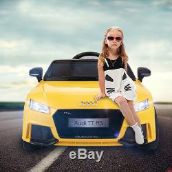 Audi TT Kids Ride On Car 12V Electric Licensed MP3 R/C Remote Control Yellow