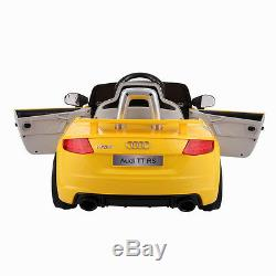 Audi TT RS Kids Ride On Car 12V Electric Licensed MP3 R/C Remote Control Yellow