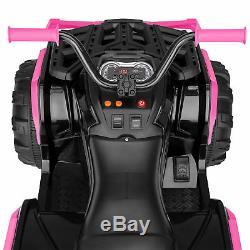 BCP 12V Kids 4-Wheel ATV Ride-On Car with 3.7mph Max, Lights, AUX Jack