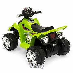 BCP 12V Kids Electric ATV Ride-On Toy with 2 Speeds, LED Lights, Sounds